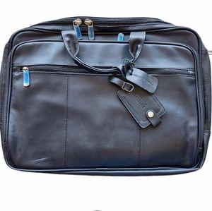 NWT Kenneth Cole Gen. Leather Black Briefcase